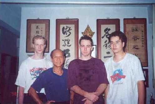 Bradley Temple, Lo Man Kam,  Nick Vietch and John Kang, 1996.